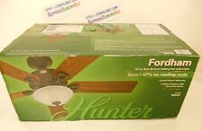 HUNTER Fordham 52 in. Walnut New Bronze Ceiling Fan with Light! 28827 Brand New!