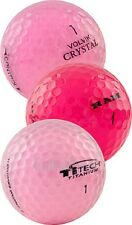 100 AAA Pink Used Golf Balls Mixed Brands Assorted Recycled Golf Balls + Tees
