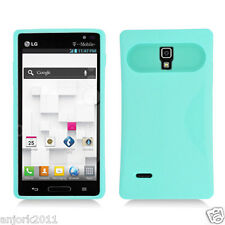 LG Optimus L9 T-Mobile P769 Hybrid Case Skin Glow in Dark Cover Light Green