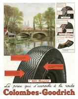 Publicité ancienne pneu Colombes-Goodrich 1938 issue de magazine