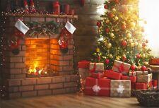 7x5Ft Photography Backdrop Christmas Tree Flashing Lights Vinyl Photo Background