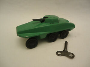 Vintage Rare Wind Up USSR Russian Tin Toy Spark Tank 1950/60s + Key Works