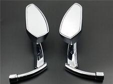 Chrome Blade Side Mirror For Harley Kawasaki Suzuki Yamaha Honda Victory VN XL