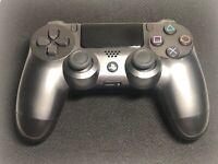 Genuine Sony Playstation PS4 Dualshock 4 Controller Steel Black (VG)