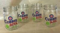 4 Hornitos Tequila Chicago Cubs Baseball Cubbie Rita Jar Glasses
