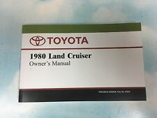 TOYOTA LAND CRUISER FJ40 OWNERS MANUAL 1980 (REPRODUCTION) Fits other years too