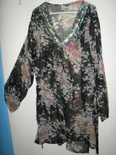Chiffon Batwing, Dolman Sleeve Multi-Colored Plus Size Tops & Blouses for Women