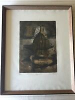 René Carcan (1925-1993) Apparence Color Aquatint Etching Print Signed & Numbered