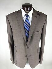 NWOT Stafford Essentials Sport Coat Brown 48R Slim Fit 3BTN Double Vents