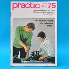 DDR practic 4/1975 Zeichengerät Außenfilter Teppichknüpfen Klebepistole Moped D