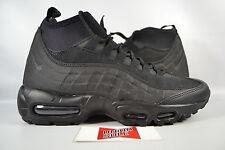 Nike Air Max 95 Sneakerboot TRIPLE BLACK 806809-002 sz 9.5 WINTER BOOT HIKING