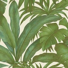 VERSACE GIUNGLA PALM LEAVES WALLPAPER - GREEN / CREAM - 96240-5 NEW