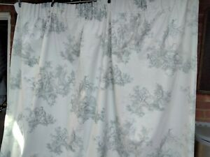 """laura Ashley french toile lined curtains 64""""W x 53"""" D"""