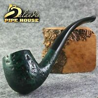 "BALANDIS ORIGINAL Briar Wood Handmade TOBACCO SMOKING Pipe "" ANACONDA "" Emerald"