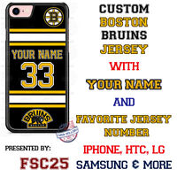 Boston Bruins Personalized Hockey Jersey Phone Case Cover for iPhone etc.
