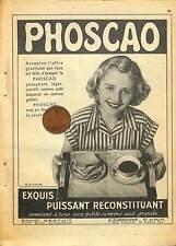PHOSCAO / BOUGIES CHAMPION / PUBLICITE 1952