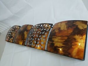 Metalic Ornamental Burnt Orange Amber Decorative Wall Hanging 83x20cm H22