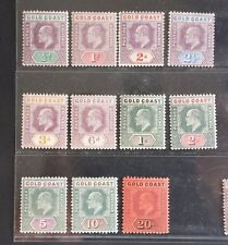 GOLD COAST 1902 KE VII 1/2d to 20s SG 38 - 48 Sc 38 - 48 wmk CA set 11 MLH