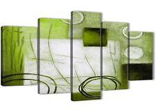 5 PANNELLO Lime Verde dipinto astratto Office Decorazioni in tela - 5431 - 160 cm