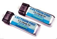 Lectron 2 pcs 1S 3.7V 150mAh 25C Lipo Battery FOR Blade MCX MCX2 MCX 2 m CX