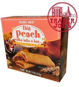 🔥 Trader Joe's This Peach Walks Into A Bar Cereal Bars 6 Bars 7.8 oz 🔥