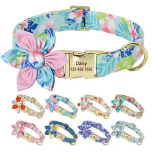 Fashion Personalized Pet Dog ID Collar Metal Buckle Free Engraved 8 Colors XS-L