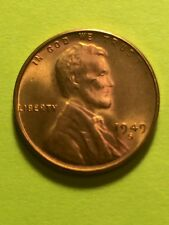 1949-S 1C RD Lincoln Cent Choice Red Uncirculated  . Key Date Low Mintage,!!!!