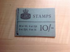 Great Britain Stamp Booklet 10/- July 1963 X6
