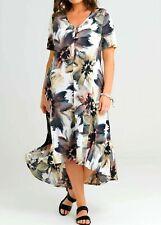 TS TAKING SHAPE plus sz M / 20 Floral Society Dress stretch light rrp$140