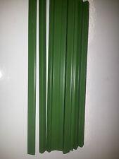 QTY 9 (nine) A4 SLIDE BINDERS 7MM CAPACITY GREEN -- LENGTH 297 MM-SQUARE