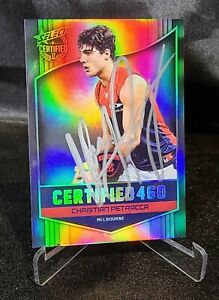 SIGNED 2017 SELECT AFL CERTIFIED 460 HOLOFOIL PARALLEL CARD C133 C.PETRACCA-MELB