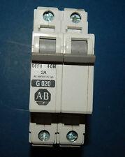 Allen Bradley 1492-Cb2-G-020 Circuit Breaker 2Pole 2Amp 480Vac 1492Cb2G020