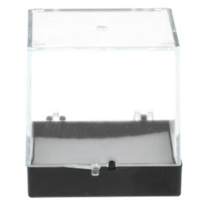 6.5x6.5x7cm Transparent dust-proof showcase with balck base for the rock &