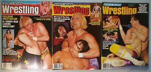 Vintage Pro Wrestling Magazine Lot of 3 Sports Review Wrestling New WCW WWF 1982
