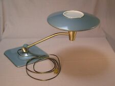 Mid Century Modern Blue/Green Dazor Desk Table Lamp Model 2056
