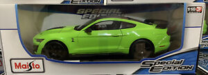 1:18 Maisto Ford Mustang Shelby GT500🇺🇸 American Muscle Sports Car 1/18 Green