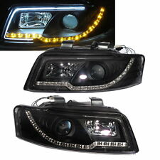 A4/S4 2001-2004 4D B6 8E Projector LED R8 HEADLIGHT w/Amber Black for AUDI