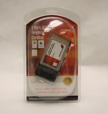 New 2 Port Ieee-1394 FireWire CardBus Startech Cb1394_2 with Cable and Sw