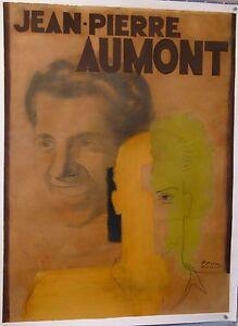 PAUL COLIN ORIGINAL GOUACHE PAINTING MAQUETTE for JEAN PIERRE AUMONT  circa 1930