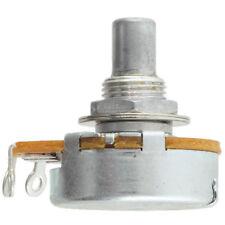 """Alpha 3/8"""" Bushing Potentiometer, 100KA Log/Audio 1/4"""" solid shaft solder tabs"""