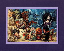 TRICK Or TREAT MONSTERS Of HALLOWEEEN PRINT PROFESSIONALLY MATTED