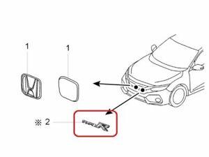 "[NEW] JDM Honda CIVIC TYPE-R FK8 Emblem Front ""TypeR"" Genuine OEM"