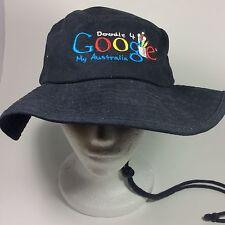 Google Doodle 4 My Australia Boonie Bush Bucket Hat  Black Cotton Size 22 In