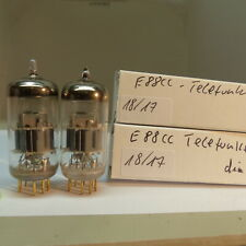matched pair E88CC Telefunken 6922 CCA <> NOS Testet Röhre Tube Valvola 14