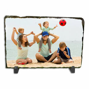 Personalised Custom Photo Picture Rectangle Rock Slate Any Image Text 20 x 15cm