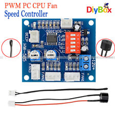 12V PWM PC CPU Fan Temperature Control Speed Controller Module High-Temp Alarm