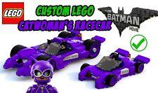 Custom Lego Batman Movie Catwoman's Racecar Minifigure Scale - Instructions Only