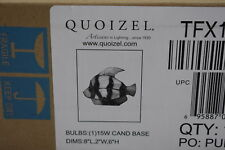 QUOIZEL Tiffany Style Fish Multi Colored Glass Table Accent Lamp TFX1520T NEW