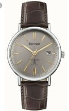 Barbour Bamburgh BB069GYBR Gents Watch, Brown Leather Strap, BNIB