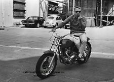 Steve McQueen Motorcycle PHOTO Flipping Bird Flip Off Pic Middle Finger